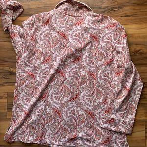 Lauren Ralph Lauren red  paisley pajama set XL